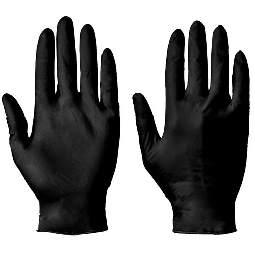 Gloves Black Nitrile Powder Free Pack Size 100 Gloves