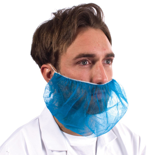 Non- Woven Beard Cover Mask Blue Pack Size 100