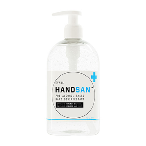 Handsan Alcohol Hand Disinfectant 500ml Single
