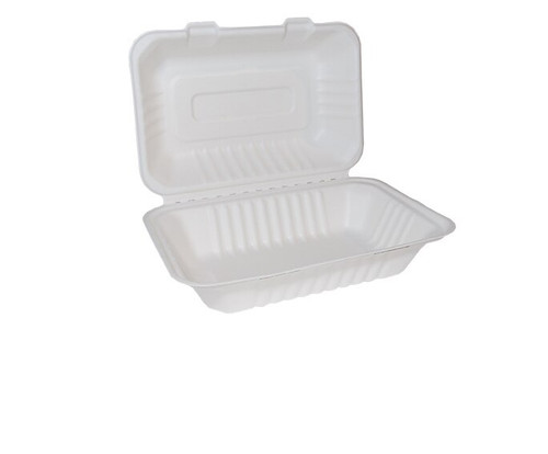 Bagasse Clam Shell Large 9x6 Pack Size 125