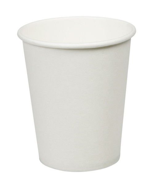 White Paper Single Wall Cups 6oz Pack Size 1000