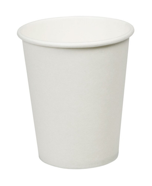 White Paper Single Wall Cups 8oz Pack Size 1000