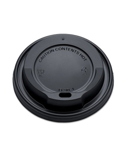 Hot Drink Cup Lid Black Sip Through 8oz Pack Size 1000