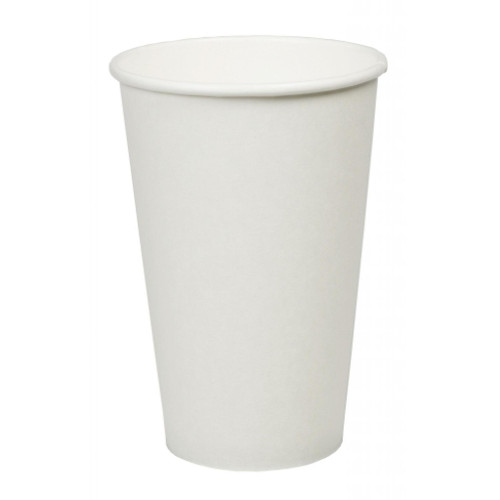 White Paper Single Wall Cups 16oz Pack Size 1000