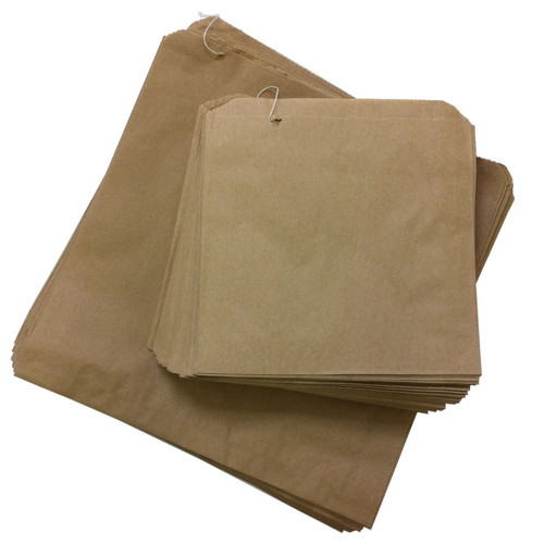 Brown Paper Bags Strung Size 13x14 Pack Size 500