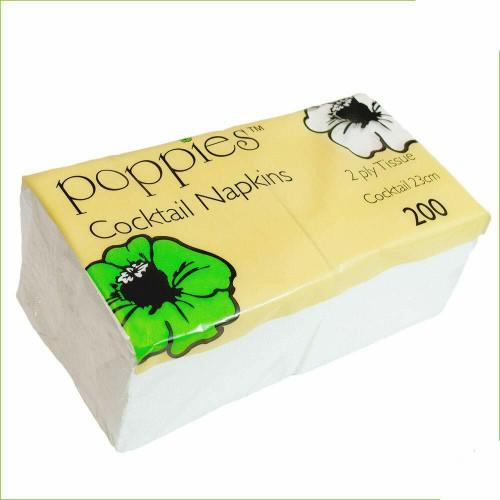 Napkins 2Ply 23cm 4 Fold White Pack Size 1000
