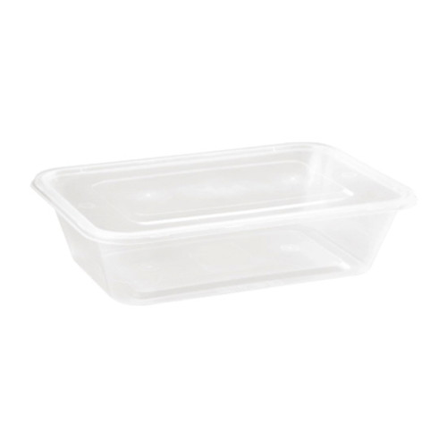 500ml  Rectangular Plastic Containers & Lids Pack Size 250