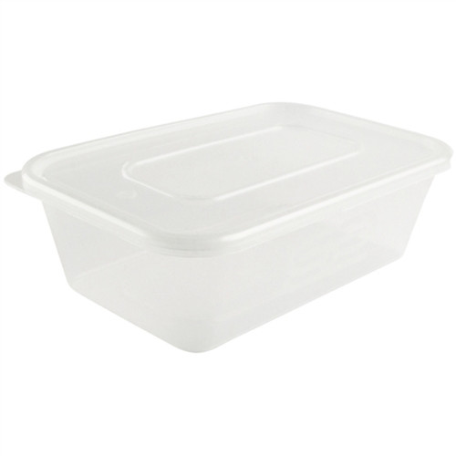 650ml  Rectangular Plastic Containers & Lids Pack Size 250