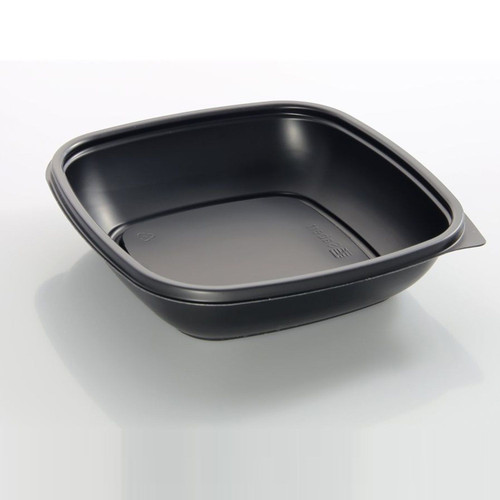 Sabert 500ml Microwavable Square Black PP Bowl Pack Size 300