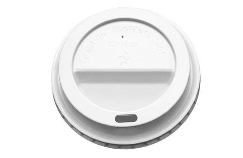 Hot Drink Cup Lid White Sip Through 12/16oz Pack Size 1000