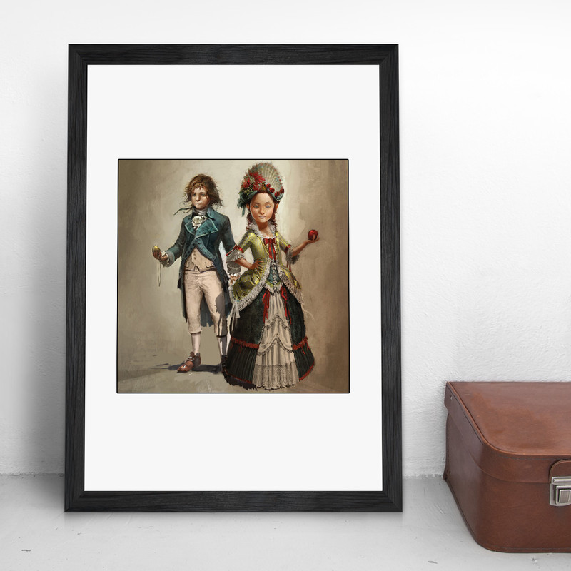 Young Elise Arno Assassin S Creed Unity Gaming Wall Art