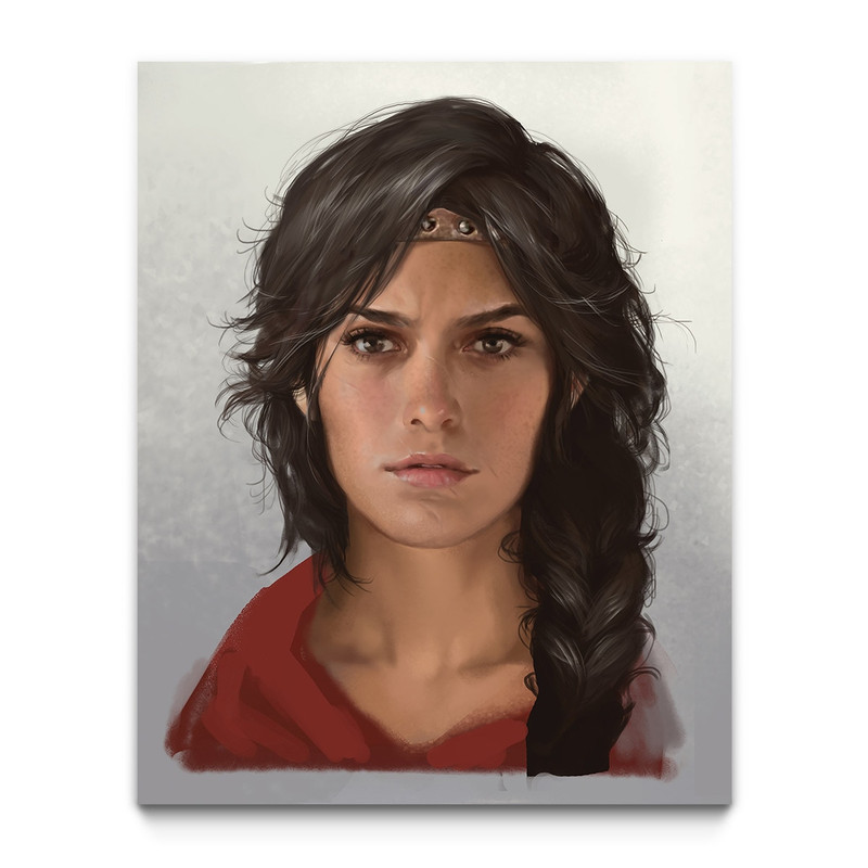 Kassandra Of Spgaming Wall Arta Assassin S Creed Odyssey Gaming Wall Art Ubisoft Store