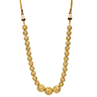 Runjhun Jewellery Golden Jaipuri Beads Traditional Ethnic Fashion Women Necklace