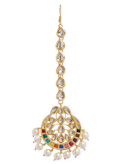 Runjhun Jewellery Kundan  Royal Designer Ethnic Traditional Maangtikka