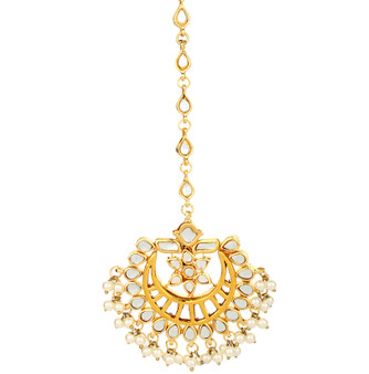 Runjhun Jewellery Kundan Royal Designer Ethnic Traditional Maangtika for women and girls