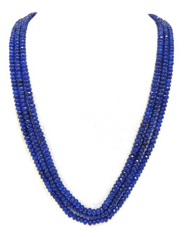Runjhun Jewellery Onex Three Layered Royal Blue Designer Ethnic Traditional Semi Precious Stones Necklace
