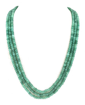 Runjhun Jewellery Onex Three Layered Light Green Designer Ethnic Traditional Semi Precious Stones Necklace
