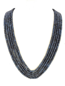 Runjhun Jewellery Onex Five Line Royal Blue Designer Ethnic Traditional Semi Precious Stones Necklace