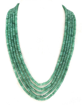 Runjhun Jewellery Onex Five Line Light Green Traditional Ethnic Fashion Women String Necklace
