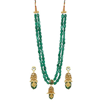 Runjhun Jewellery Designer Southern Golden Beads Royal Ethnic Traditional Necklace