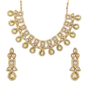 Runjhun Jewellery Uncut Stone Designer Necklace for Women & Girl