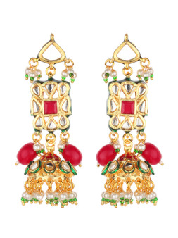 Runjhun Jewellery Kundan Earrings for Women Girls