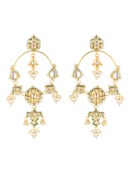 Runjhun Jewellery Long Kundan Danglers for Women Girls