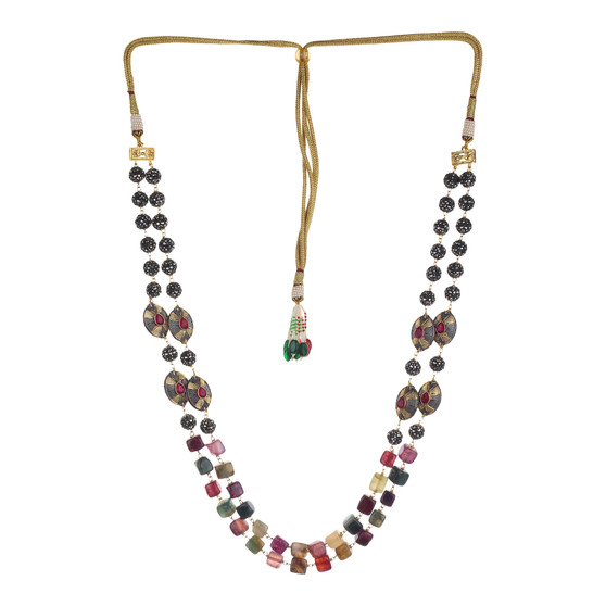 Runjhun Jewellery Royal Beads Jaipuri Exclusive High Quality Trendy Traditional Necklace Set For Women Girls