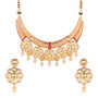 Runjhun Jewellery Kundan Pink Semi Precious 18 Carat Gold Plated Hasli Designer Traditional Exclusive Necklace for Women Girls