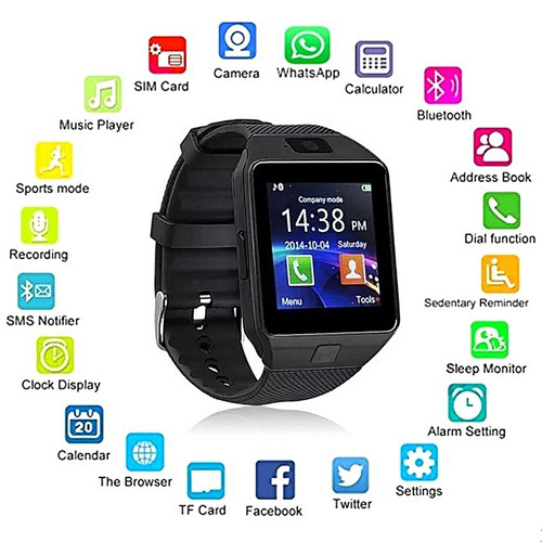 OfferFamily 007 Fitness Smartwatch - Midnight Black - Android & iOS