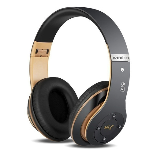 Turn UP Wireless Bluetooth Bass Over Ear Headphones with Mic