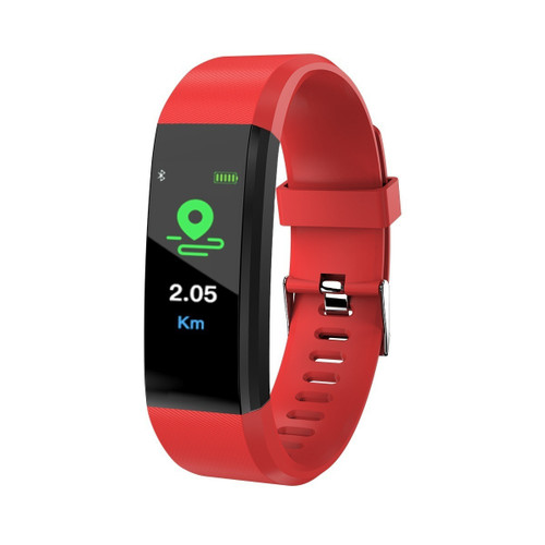 Red Triathlon Waterproof Activity Fitness Tracker