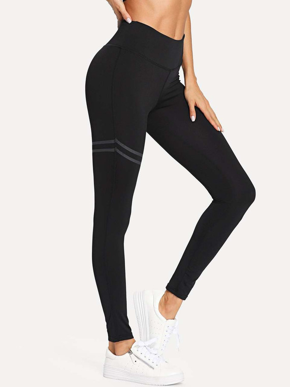 Inner Chi Contrast Stripe Yoga Leggings