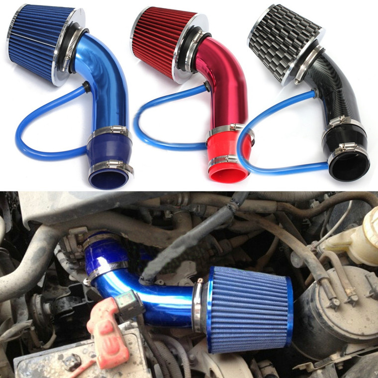 Power UP Universal 2.5'' - 3.0'' Performance Cold Air Intake Filter Aluminum Induction Pipe Hose System