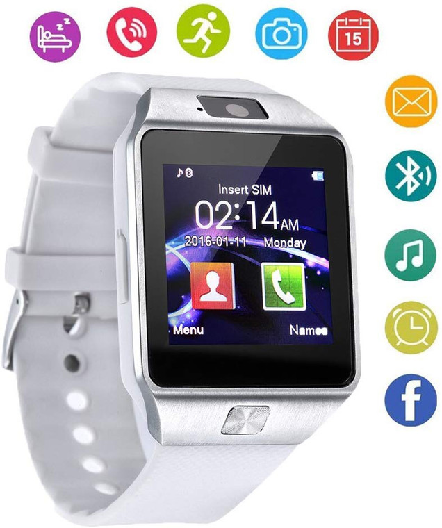 OfferFamily 007 Fitness Smartwatch - Arctic White - Android & iOS