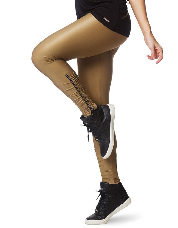 Leggings 230 with Zipper Strass Gold