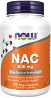 NOW Foods NAC N-Acetyl Cysteine - 600mg - 250 Vege Caps