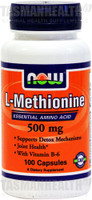 NOW Foods L-Methionine 500mg