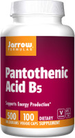 Jarrow Pantothenic Acid B5 500mg