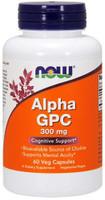 Now Foods Alpha GPC 300mg 60 Vege Caps