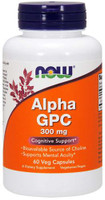 Now Foods Alpha GPC 300mg 60 Vege Caps