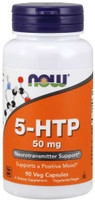Now Foods 5-HTP 50mg 90 Vege Capsules
