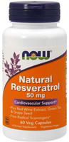 Now Foods Resveratrol 50mg, anti-aging