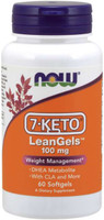 Now Foods 7-Keto LeanGels, 100mg 60 Softgels