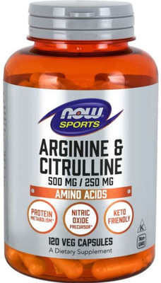 Now Foods Arginine Citrulline, Amino acid, Now Sports, muscle growth, protein, keto, metabolism