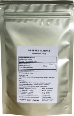 Tasman Health, Bilberry Extract Powder