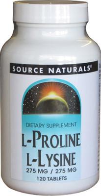 Source Naturals L-Proline L-Lysine