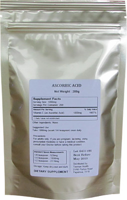 Tasman Health, Ascorbic Acid Powder