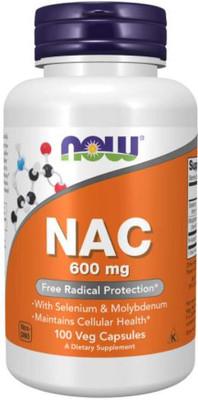 NOW Foods NAC N-Acetyl Cysteine - 600mg - 100 Vege Caps