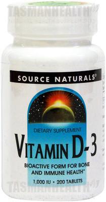Source Naturals Vitamin D-3 1000IU - 200 Softgels